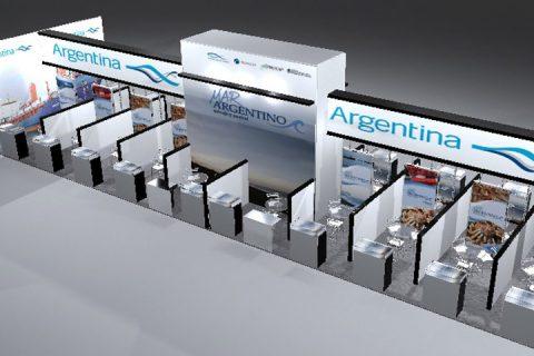 Stand Pais Argentina en Qindao